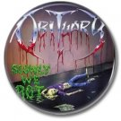 Obituary band button! (25mm, badges, pins, heavy metal, death metal)