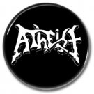 ATHEIST band button! (25mm, badges, pins, heavy metal, death metal)