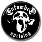 ENTOMBED band button! (25mm, badges, pins, heavy metal, death metal)