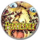 PESTILENCE band button! (25mm, badges, pins, heavy metal, death metal)
