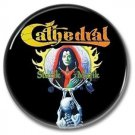 CATHEDRAL band button! (25mm, badges, pins, heavy metal, doom metal)
