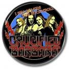 CRUCIFIED BARBARA button! (25mm, badges, pins, sleaze, hair metal, heavy metal)