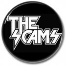 THE SCAMS button! (25mm, badges, pins, sleaze, hair metal, heavy metal)