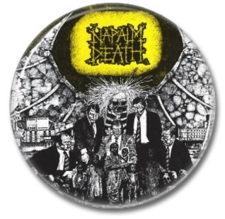 NAPALM DEATH button! (25mm, badges, pins,grindcore, heavy metal)