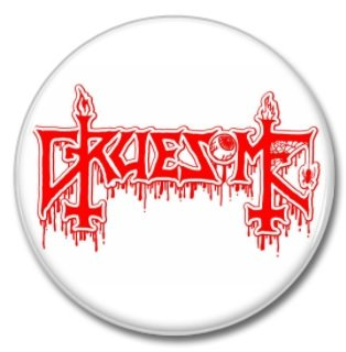 GRUESOME band button! (25mm, badges, pins, heavy metal, death metal)