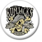 RUMJACKS button (1inch, 25mm, irish punk, badges, pins)