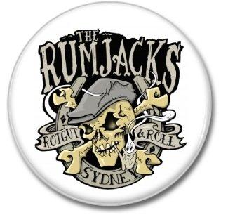 RUMJACKS button (1inch, 25mm, irish punk, badges, pins)