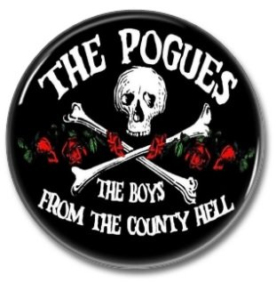 POGUES button (1inch, 25mm, irish punk, badges, pins)