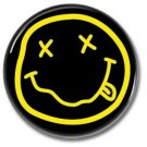 NIRVANA band button! (25mm, punk,grunge, alternative, badges, buttons)