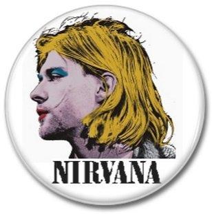 NIRVANA band button! (25mm, punk,grunge, alternative, badges, buttons)