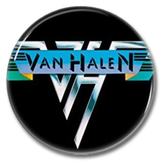 VAN HALEN button! (25mm, badges, pins, sleaze, hair metal, heavy metal)