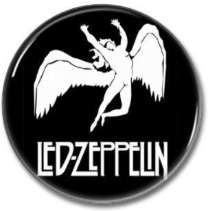 LED ZEPPELIN button! (25mm, badges, pins, sleaze, hair metal, heavy metal)