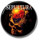 SEPULTURA band button! (25mm, badges, pins, heavy metal, thrash metal)