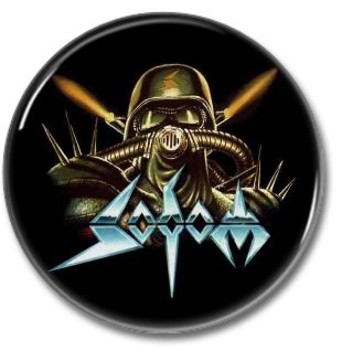 SODOM band button! (25mm, badges, pins, heavy metal, thrash metal)