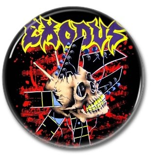 EXODUS band button! (25mm, badges, pins, heavy metal, thrash metal)