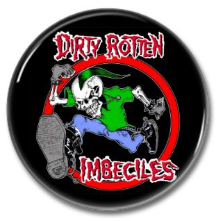 DRI band button! (25mm, badges, pins, heavy metal, thrash metal)