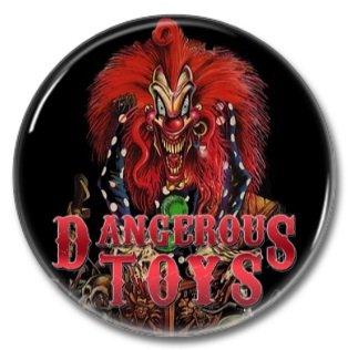 DANGEROUS TOYS band button! (25mm, badges, pins, heavy metal, hair metal)