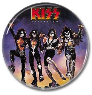 KISS band button! (25mm, badges, pins, heavy metal, hair metal)