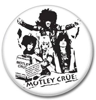 MOTLEY CRUE band button! (25mm, badges, pins, heavy metal, hair metal)