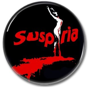 Dario Argento Suspiria button (25mm, badges, pins, horror)