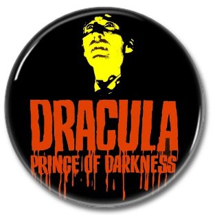 Hammer Films: Dracula, Prince Of Darkness button (25mm, badges, pins, horror)