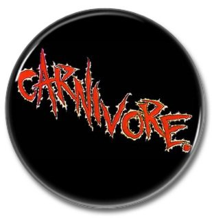 CARNIVORE band button! (25mm, badges, pins, heavy metal, thrash metal)