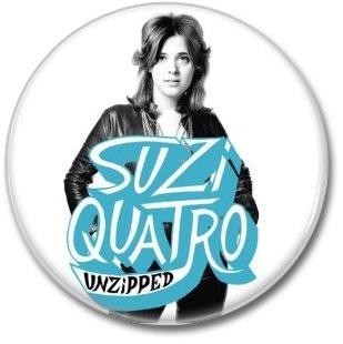 SUZI QUATRO button! (25mm, badges, pins, glam rock)