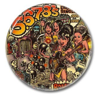 5,6,7,8s band button! (25mm, badges, pins, rockabilly, psychobilly)