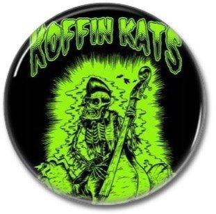 Koffin Kats band button! (25mm, badges, pins, rockabilly, psychobilly)