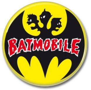 BATMOBILE band button! (25mm, badges, pins, rockabilly, psychobilly)