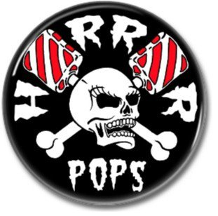 HORROR POPS band button! (25mm, badges, pins, rockabilly, psychobilly)