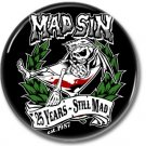 MAD SIN band button! (25mm, badges, pins, rockabilly, psychobilly)
