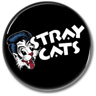 STRAY CATS band button! (25mm, badges, pins, rockabilly, psychobilly)