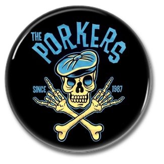 the Porkers band button! (25mm, badges, pins, ska, punk)