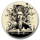 H.P. Lovecraft button (badges, pins, 25mm. books, horror, cthulhu)