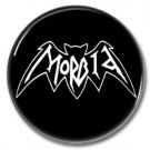 Morbid band button (25mm, badges, pins, heavy metal, black metal)
