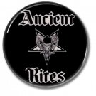 Ancient Rites band button (25mm, badges, pins, heavy metal, black metal)