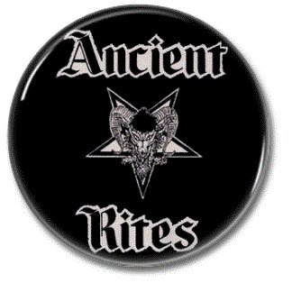 Ancient Rites band button (25mm, badges, pins, heavy metal, black metal)