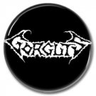 Gorguts band button! (25mm, badges, pins, heavy metal, death metal)