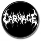 Carnage band button! (25mm, badges, pins, heavy metal, death metal)