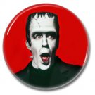 Frankenstein Monster button (badges, pins, 31mm. occult, horror)