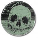 Skull Rise button (25mm, badges, pins, occult, horror)