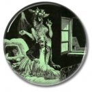 Midnight Devil button (25mm, badges, pins, occult, horror)