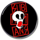 Subhumans band button (punk, badges, pins, 25mm)