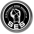 Straight Edge Society button (punk, badges, pins, 25mm, drugs free)