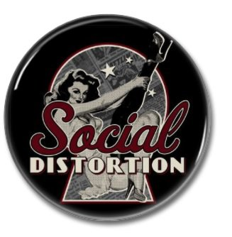 Social Distortion button (punk, badges, pins, 25mm)