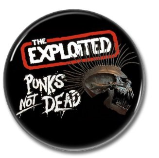 The Exploited button (punk, badges, pins, 25mm)