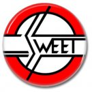 The SWEET band button! (25mm, badges, pins, glam,70s)