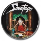 SAVATAGE band button (badges,pins, 25mm, heavy metal, power metal prog)