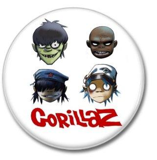 Gorillaz band button! (1inch, 25mm, badges,pins)